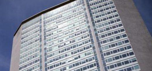 Palazzo Pirelli durante la presentazione e l'inaugurazione di 'Le età del Grattacielo' Il Pirelli a sessant'anni dalla posa della prima pietra, Milano, 25 maggio 2016.  ANSA/STEFANO PORTA