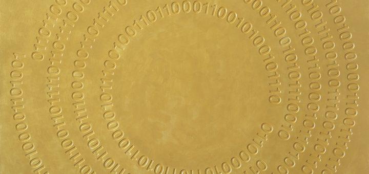 Superficie oro, 2017_Acrilico su tela_cm 100x100 (Madre_Teresa)